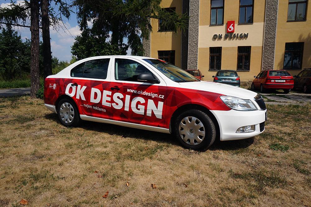 Auto s polepem OKDesign