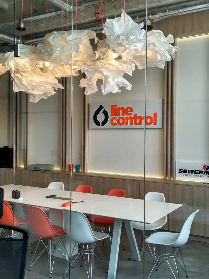 LED reklama v interiéru